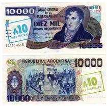 10.000 Pesos Argentinos Sobrec 10 Australes Bottero 2711
