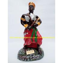Escultura Orixa Pai Xango Africa Imagem 23cm Estátua Gesso