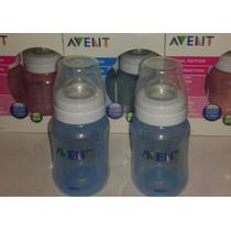 Set De 02 Teteros Azules Avent De 9oz Anticolicos - Bebes