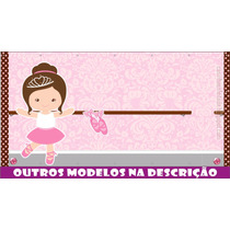 Painel Decorativo Festa Infantil Lona Banner Bailarina 2x1m