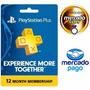 Tarjeta Playstation Plus 1 Año Psn Store Usa Ps3 / Ps4