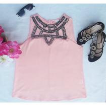 Blusa Camisa Crepe Seda Feminino Luxo Bordada Formal Social