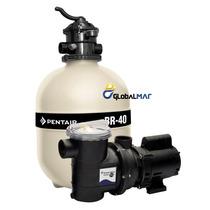 Kit Motor Bomba E Filtro Para Piscina Sibrape 1/3 Cv Br 40