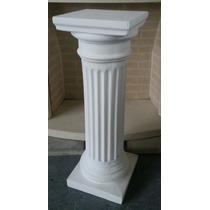 Columna De Yeso Dorica Gruesa 50cm De Alto Pedestal Pie Mesa