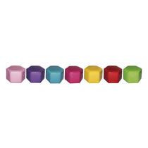 Conjunto 7 Puffs Infantis Colmeia Coloridos Em Pvc - Urban