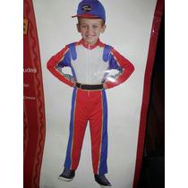 Piloto De Avión Disfraz Para Niño Ferrari F1 Talla 8