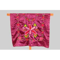 Blusa Regional De Tehuana Con Flores Tejidas A Mano