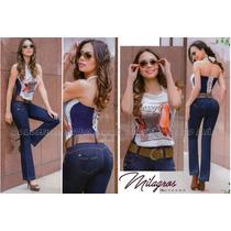 Jeans Levanta Cola Tiro Alto - Tipo Exportación