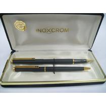 Inoxcrom X2 Bolígrafo Y Lapicera Epoxi Negro- Déc.80- España