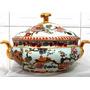 Sopeira Floral Em Porcelana Chinesa Pintado A Mão