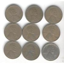 9 Monedas Estados Unidos 1 Centavo Año 1930 Al 45 Con Zinc