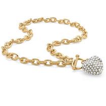 Collar C/ Corazón Piedra Abril Diamante Artificial Cristal