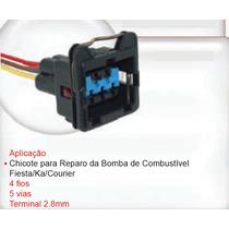 Chicote Conector Plug 5 Vias Bomba Ford Ka Fiesta Courier