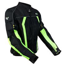 Chamarra Motociclismo R7 Mod. 301 Negro/verde Talla M