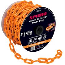 Cadena Plastica 8 Mm 25 Metros Color Naranja Fiero 44185
