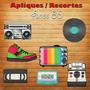 Pacote Com 20 Apliques / Recorte - Anos 80