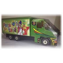 Mini Caminhão Baú De Brinquedo Em Mdf - Infantil + 02 Brinde