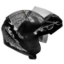Capacete Moto Peels Urban Smok Articulado Robocop Óculos Fum