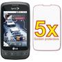 Pantalla 5x Lg Optimus S Ls670 Premium Clear Lcd Kit Protect