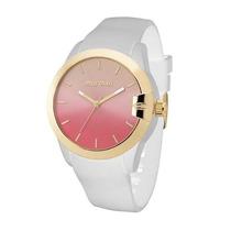Relógio Feminino Mormaii Mauí Mo2035be/8d Branco Original