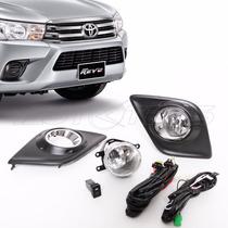 Kit Faros Niebla Hilux 2016 2017 Bisel Aro Cromado Toyota