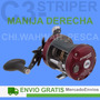 Reel Rotativo Abu Garcia Ambassadeur 6500 C3 Striper Special