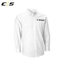 Camisa Manga Larga Oxford Blanca Para Hombres