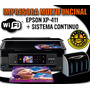Multifuncional Epson Xp411 + Sistema Continuo Compatible.