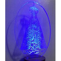 Luminária Mini De Tomada , Nossa Senhora Em Acrilico