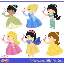Kit Imprimible Princesas Disney 39 Imagenes Clipart