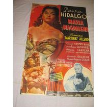 Afiche Antiguo Con Laura Hidalgo