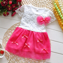 Vestido Niña Fiesta Encajes Flores Moños Tutu Rose Red