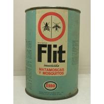 Retro Antigua Lata Insecticida Flit Esso 1 Litro Lleno