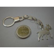Bull Terrier - Llavero Plata 925 - Oro 18k