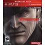 Metal Gear Solid 4 Ps3 - Disco Fisico - Excelente Estado