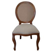 Cadeira De Jantar Medalhão Com Palha - Wood Prime