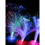 15 Centros De Mesa Luminosos. Fibra Optica. Fiestas C/ Pilas
