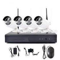 Kit Nvr 4 Camera Ip 1.3mp Full Hd Wireless Wifi Dvr Sem Fio