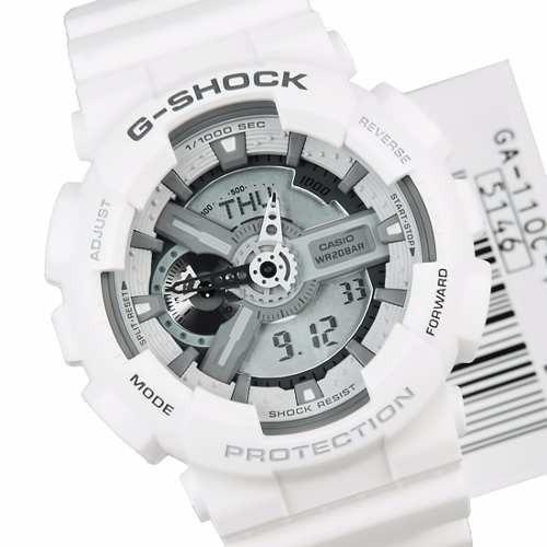 3d49cc6be90 Relógio Casio G-shock Ga110 Wr200 H.mundial Esportivo Branco - R  489