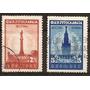 Yugoslavia Año1946 2v. Yvert N°458 Y N°459 Usadas