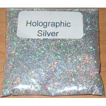 Glitter Holográfico Ultrafino Cosmético .008 - Prata - 1 Kg