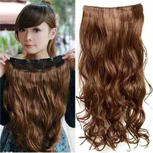Extenciones 100 fibra natural clip on 24 pulgadas en mercado libre - Extensiones de pelo natural cortinas ...