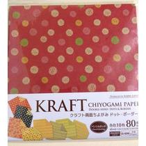 Papel Origami 15x15 Cm 80 Hojas 4 Diseños Original Japon