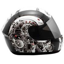 Capacete Peels Spike Cyborg Preto Não Ls2/norisk/mt/hjc