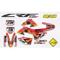 Kit Adesivo Crf 230 2008 2014 Red Bull Impact Com Capa