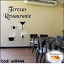 Adesivo De Parede Restaurante Taça Copo Prato Xícara Will444