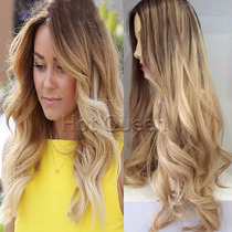 Peruca Full Lace 60 Cm Baby Hair Loira Cabelo Humano
