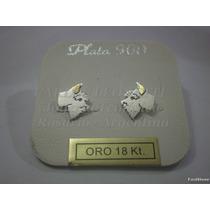 Schnauzer - Aros Plata 925 - Oro 18k.