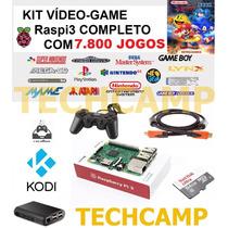 Video Game Multijogos Recalbox Raspberry Pi3 64gb 7800 Jogos