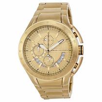 Relógio Armani Ax1407 Dourado Exchange Video Real Produto